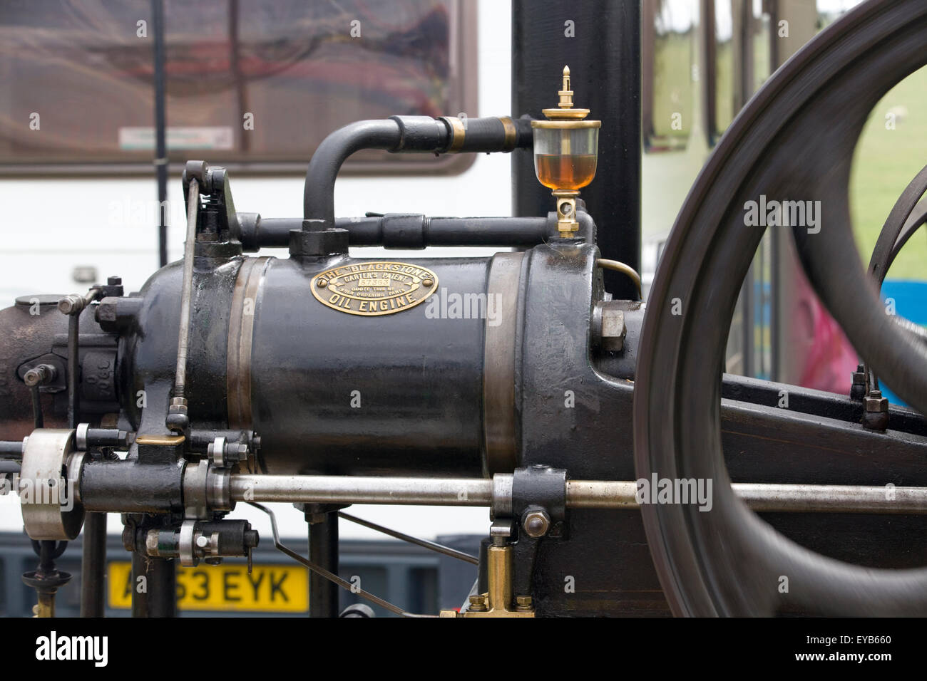 single cylinder, simple expansion, double-acting high pressure steam engine Close Up - Stock Image