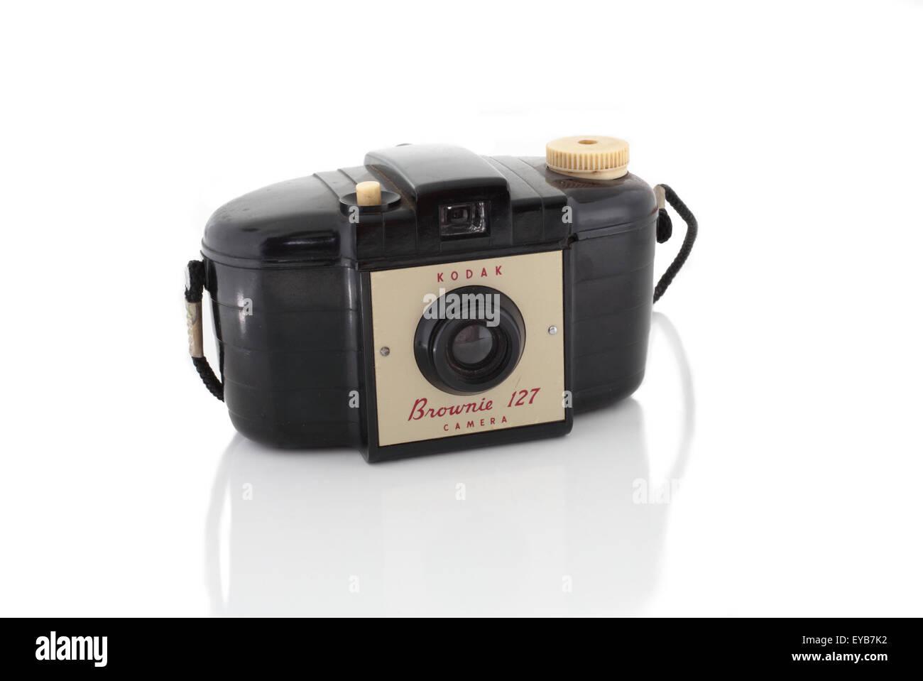 Very old Kodak Brownie camera - Stock Image
