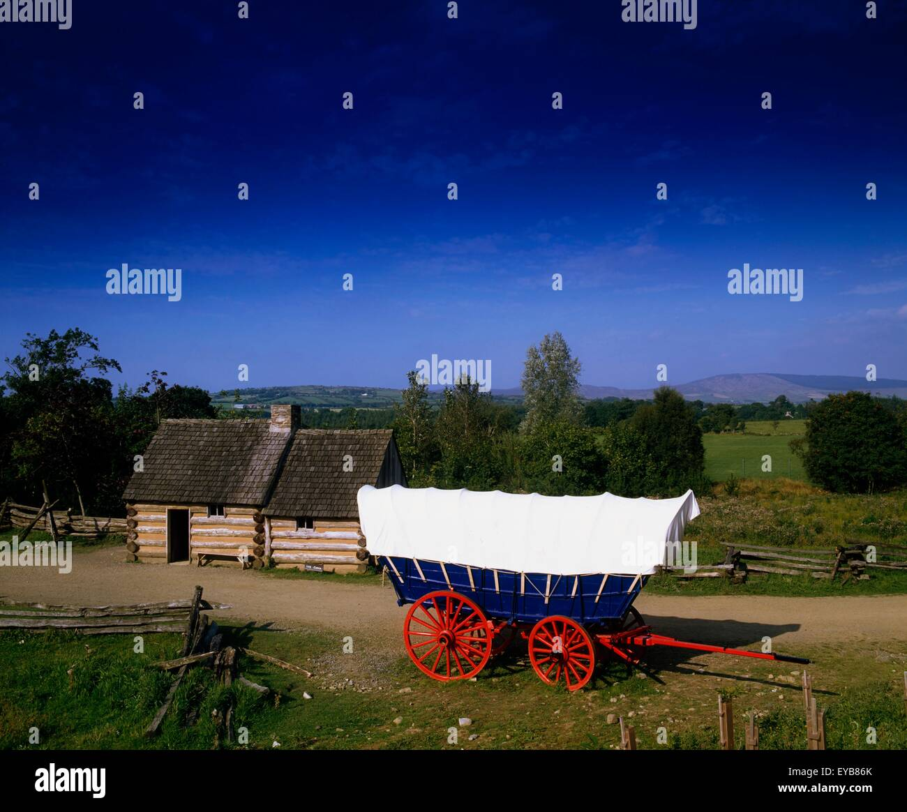 Ulster American Folk Park, Omagh, Co Tyrone, Ireland - Stock Image