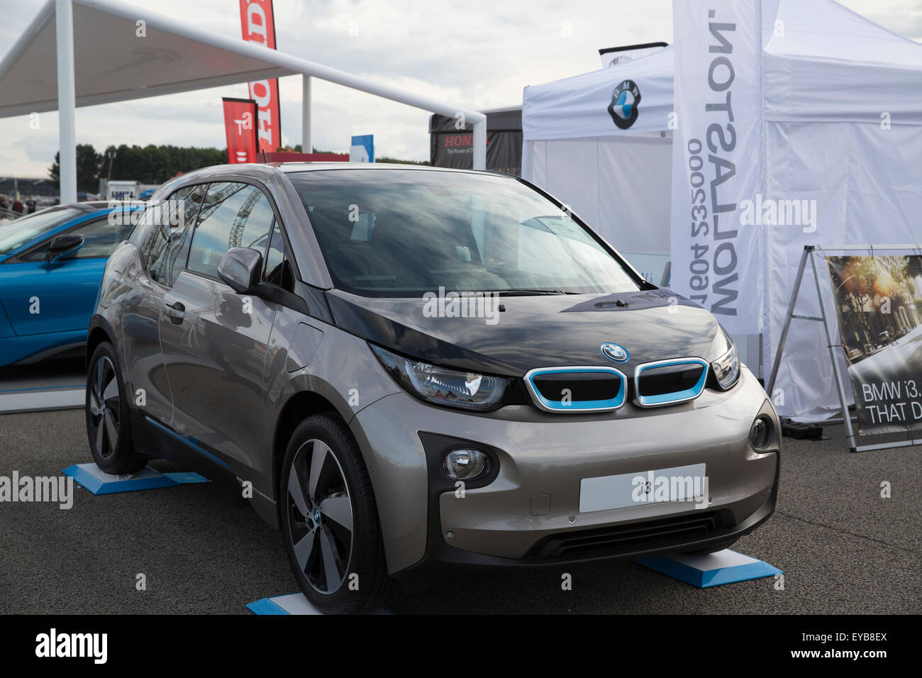 Silverstone Uk 25th July 2015 The New Bmw I3 Electric Car At