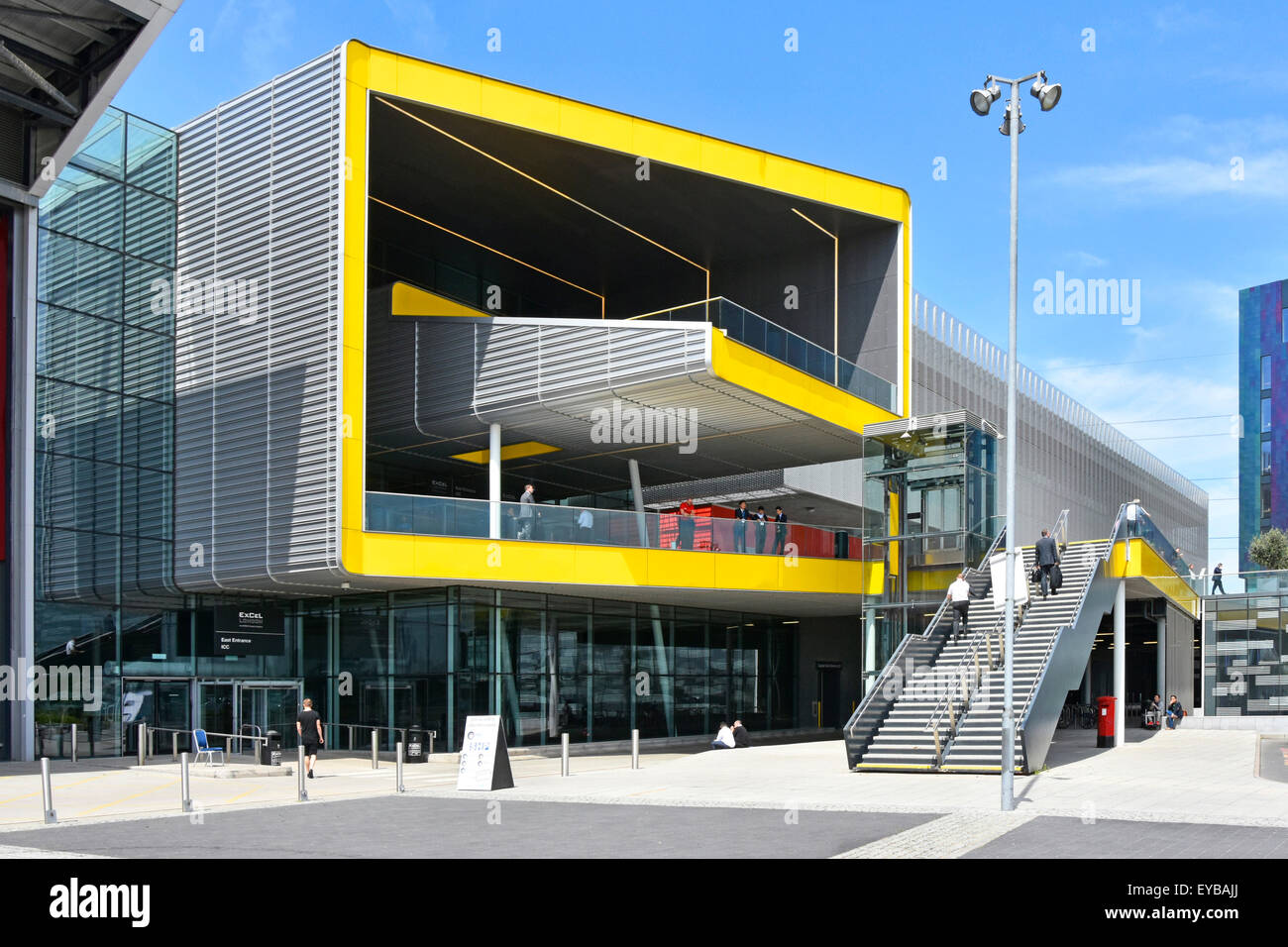 Exhibition Hall eastern public entrance areas to the London Excel exhibition complex & International Convention - Stock Image