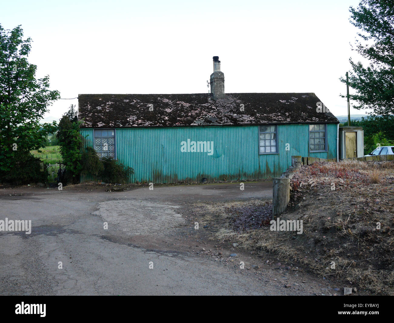 1940s Farm Labourers cottage, Turnhouse, Edinburgh, Scotland, UK. - Stock Image