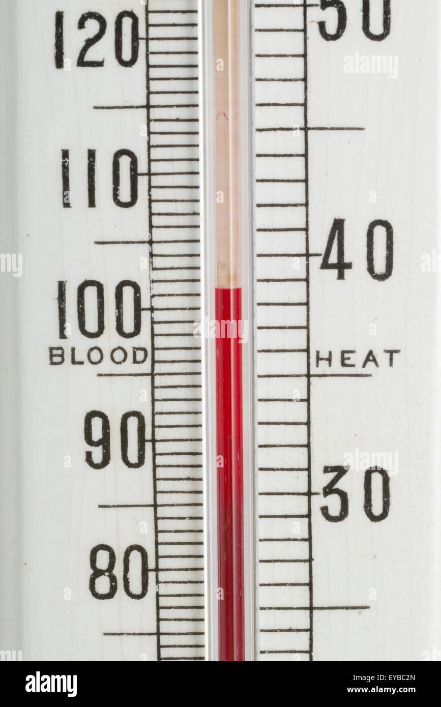 Negretti & Zambra thermometer. China temperature gauge. Antique scientific measuring instrument. - Stock Image