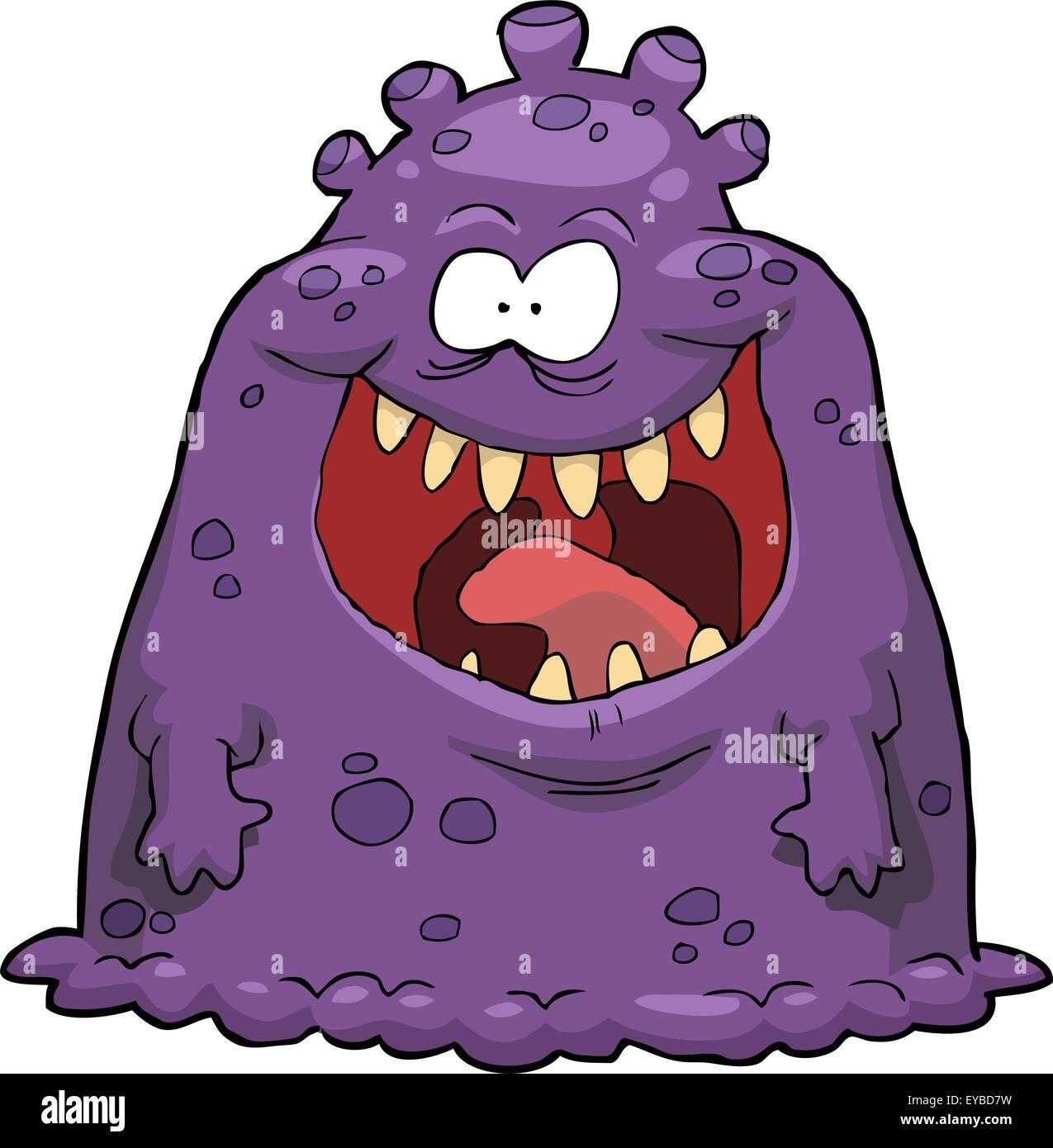 Purple virus on a white background vector illustration - Stock Image