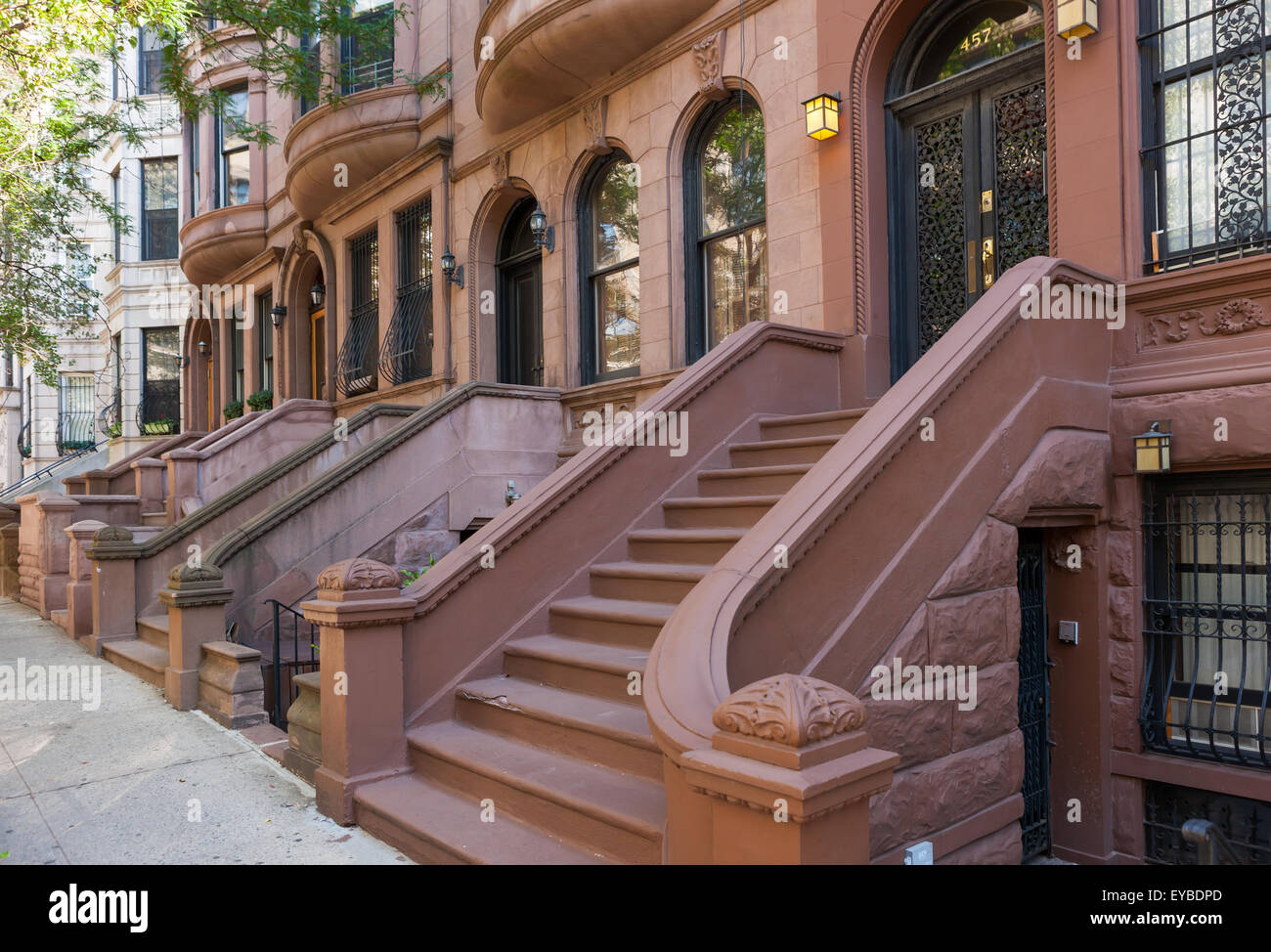 Romanesque Revival Brownstone Houses In Hamilton Heights