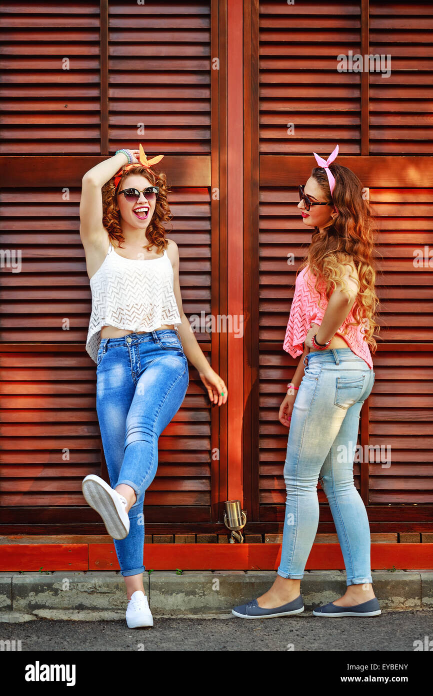 195fbe54528 Best girlfriends are dressed in the style of Pin-up girl. The concept of