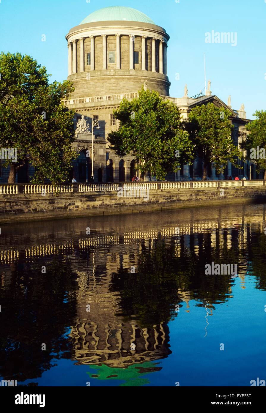Four Courts, Dublin, Co Dublin, Ireland; Supreme Court In An 18Th Century Building Designed By James Gandon - Stock Image