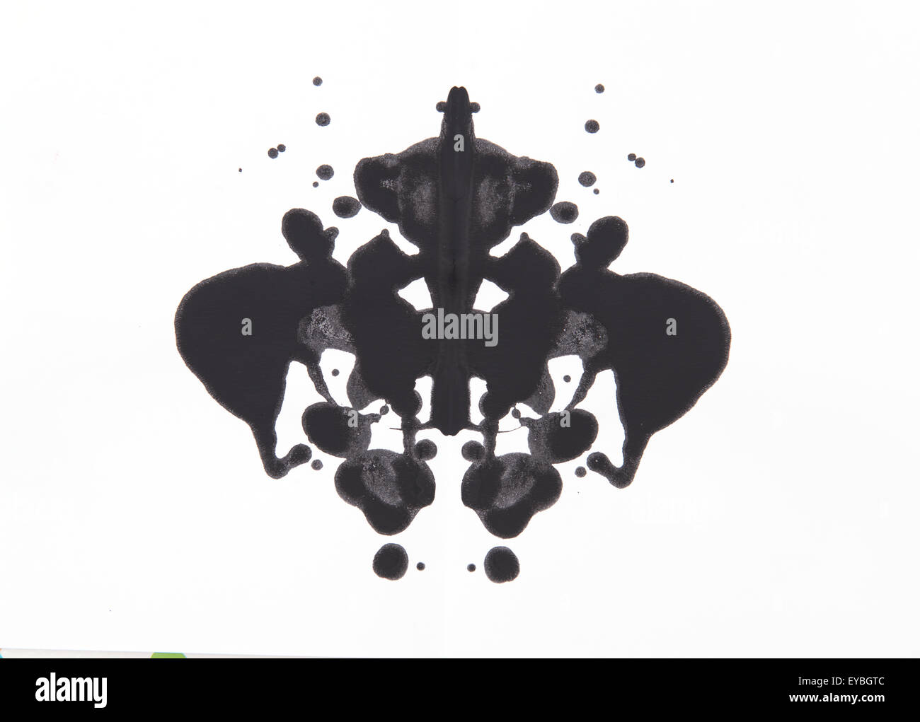 Abstract symmetric painting, Rorschach test - Stock Image