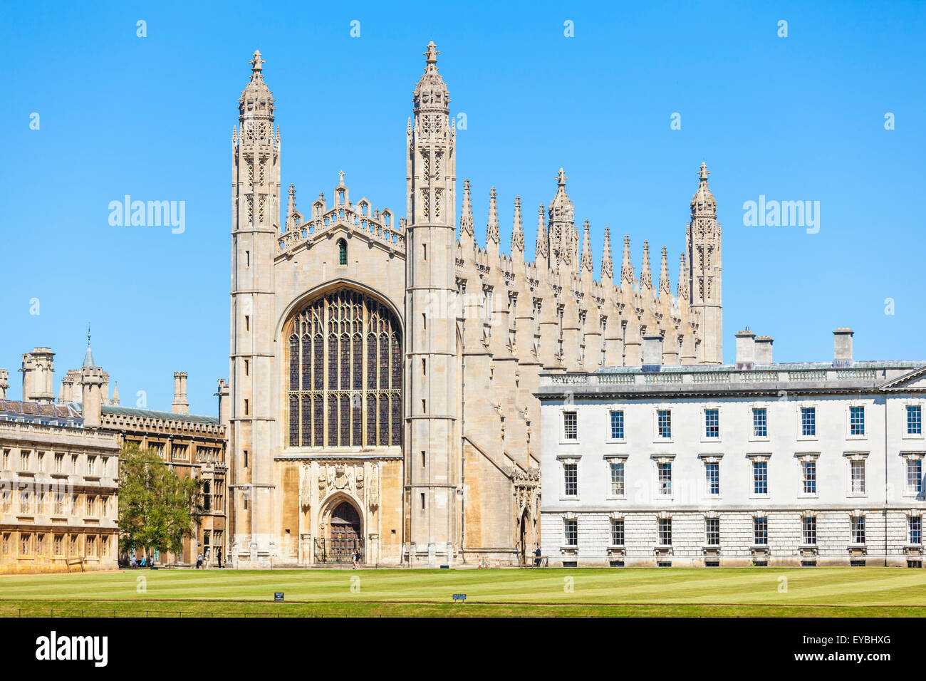 Kings College Chapel from the Backs Cambridge University Cambridgeshire England UK GB Europe - Stock Image