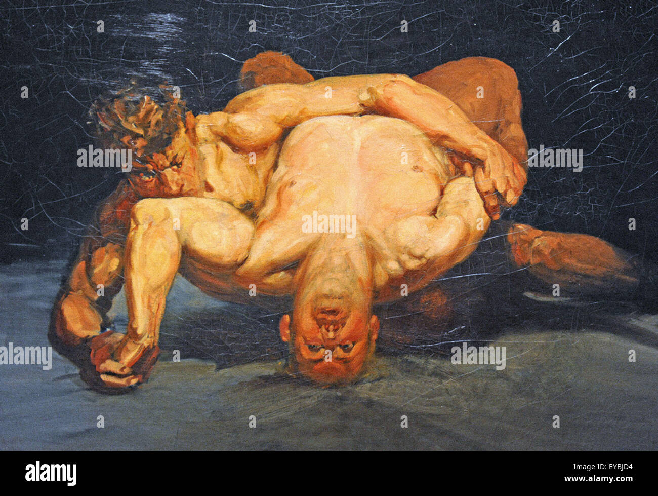 George Luks  The Wrestlers - Stock Image