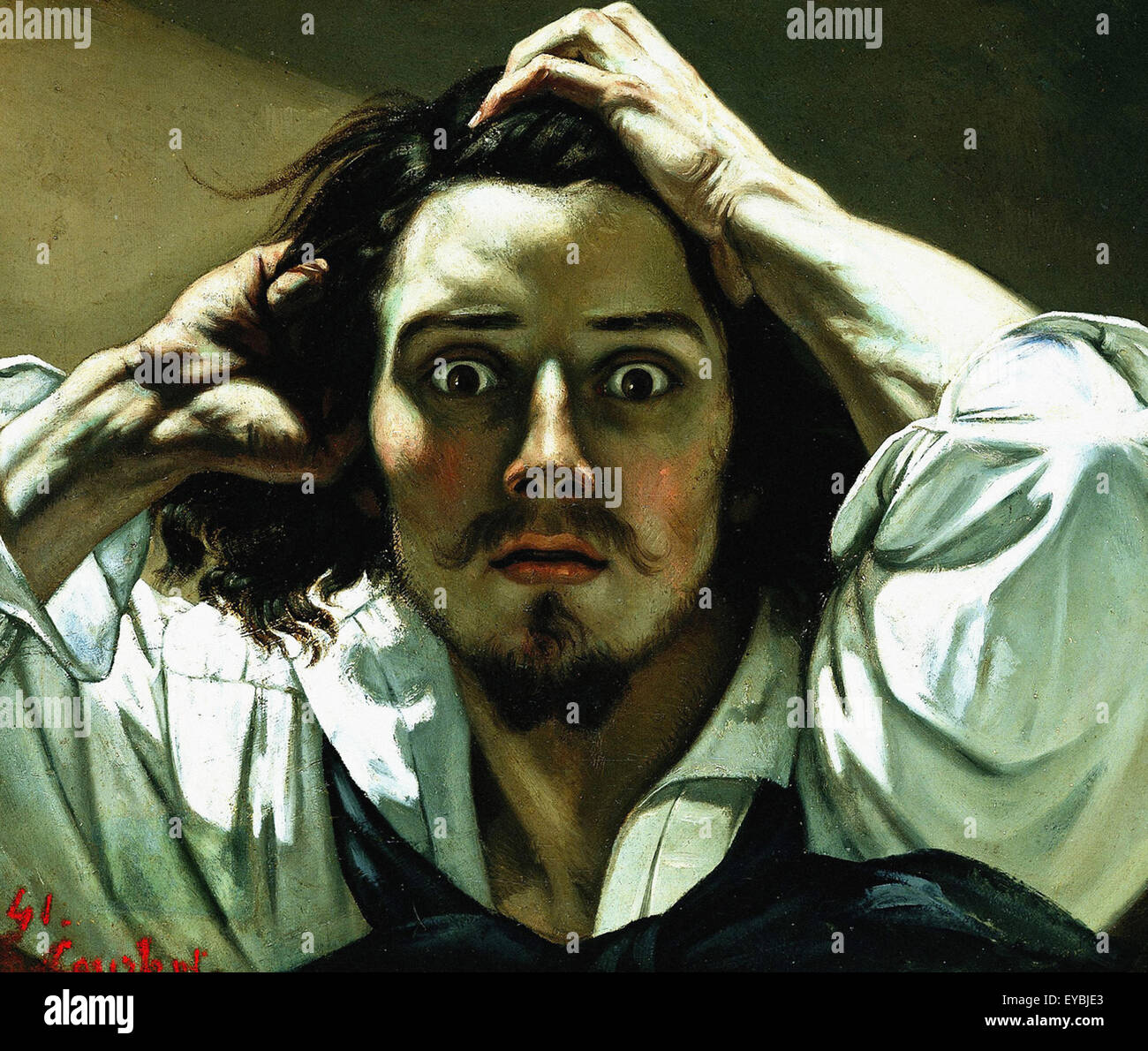 Gustave Courbet  The Desperate Man (Self Portrait) - Stock Image