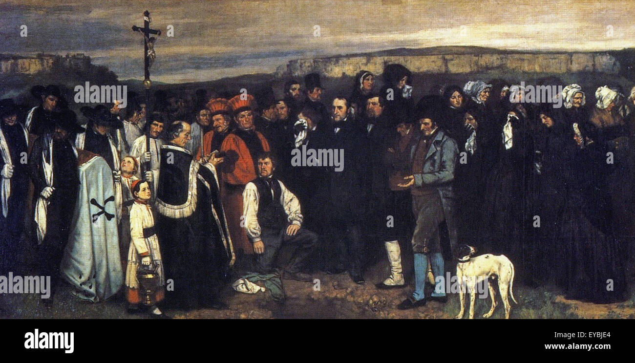Gustave Courbet  A Burial at Ornans - Stock Image