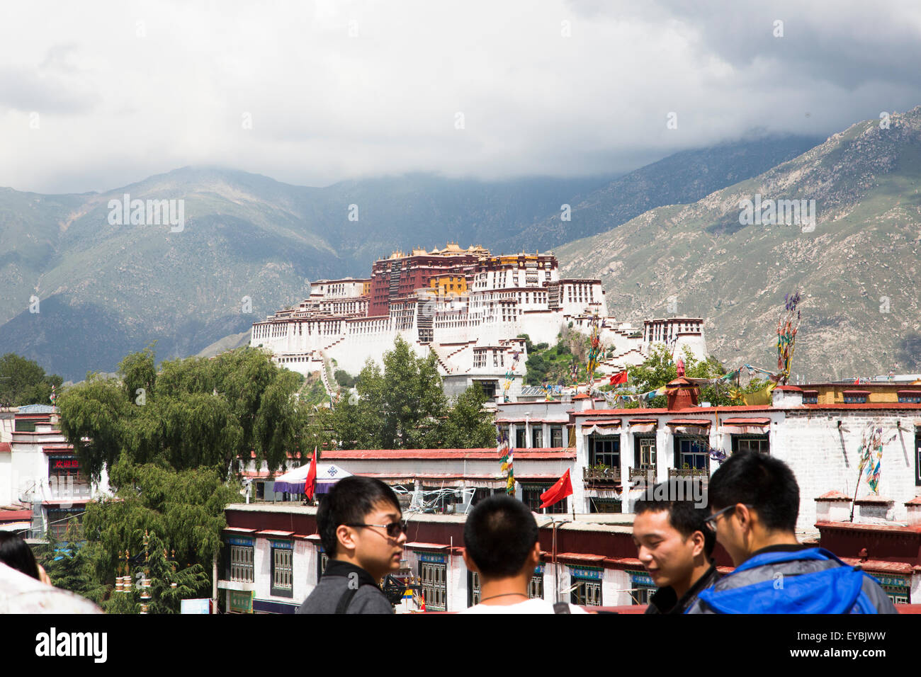 A view of the Potala palace in Lhasa - Stock Image