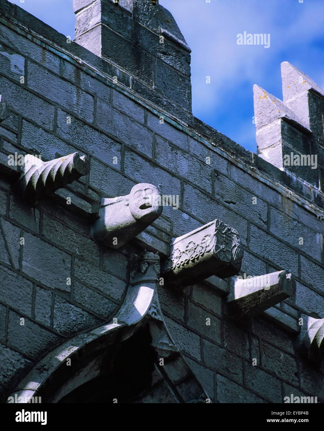 St Nicholas' Collegiate Church, Galway, Co Galway, Ireland; Gargoyles On A Church Of Ireland Church - Stock Image