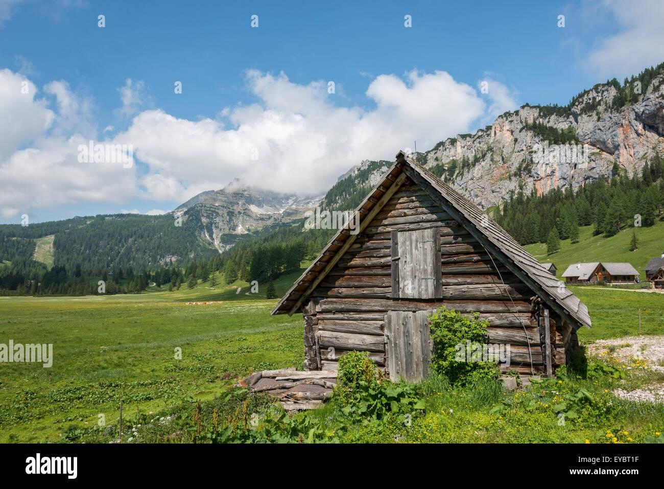 Alpine cabin, Wurzeralm, Austria Stock Photo