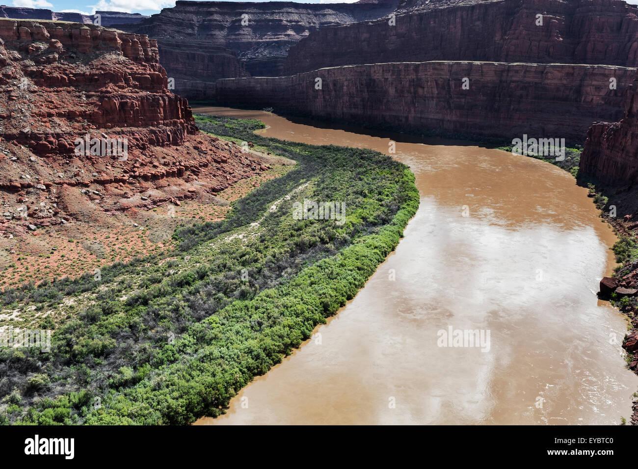 Colorado River, outside Canyonlands, Moab, Utah - Stock Image