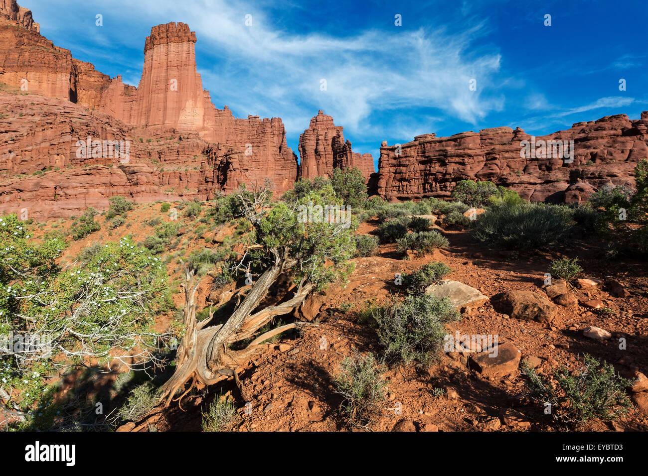 Fisher Towers, Moab, Utah - Stock Image
