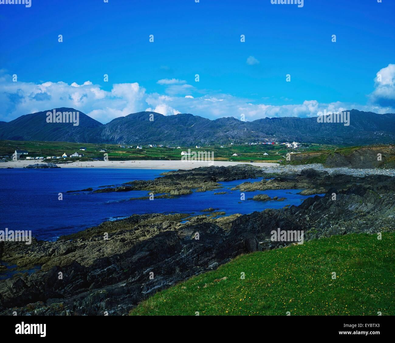 Ballydonegan, Co Cork, Ireland; Rocky Shore On The Atlantic - Stock Image