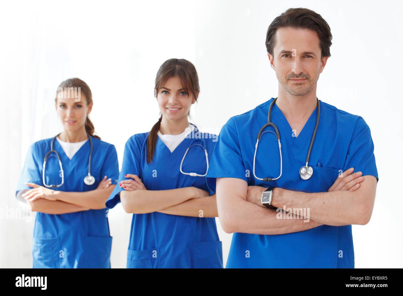 team of doctors - Stock Image