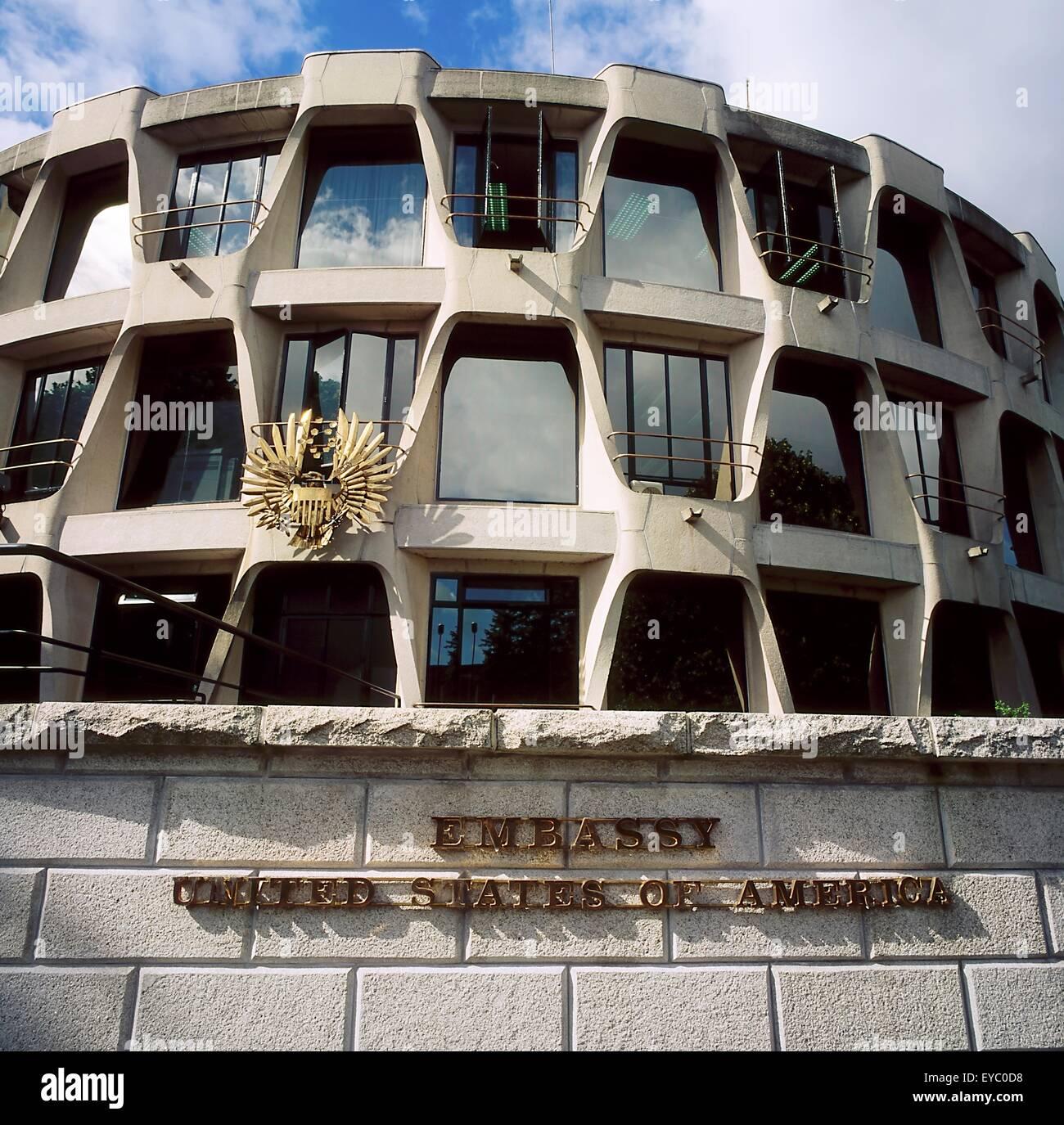 Embassy Of The United States Of America, Dublin, Co Dublin, Ireland - Stock Image