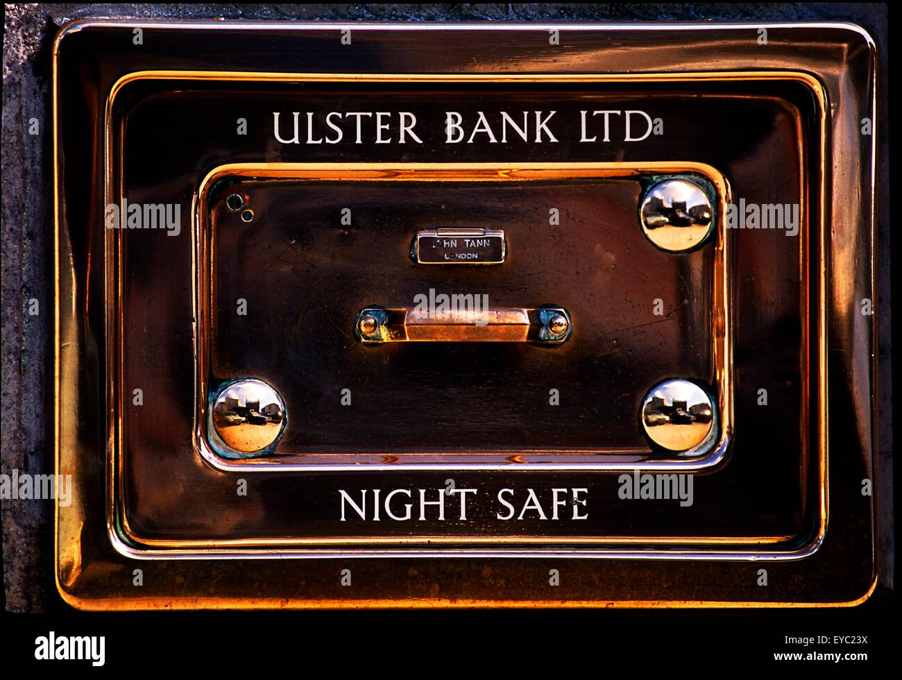 Ulster Bank Ltd; Night Safe - Stock Image