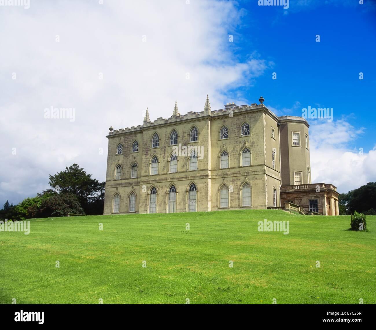 Castle Ward, Co Down, Ireland, Gothic Façade - Stock Image