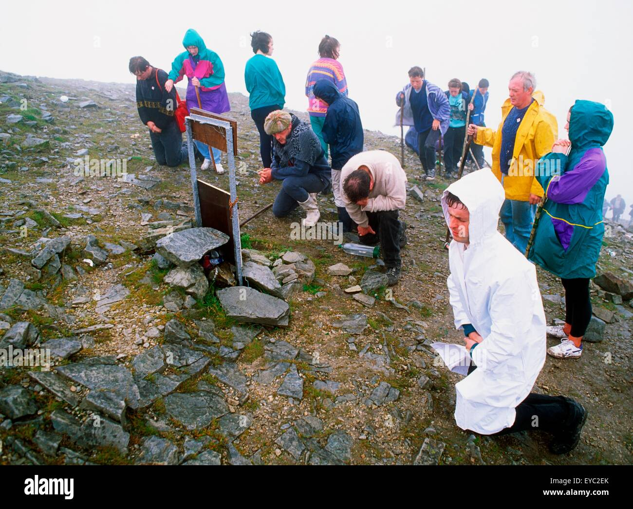 Croagh, Co Mayo, Ireland; Croagh Patrick Pilgrimage - Stock Image
