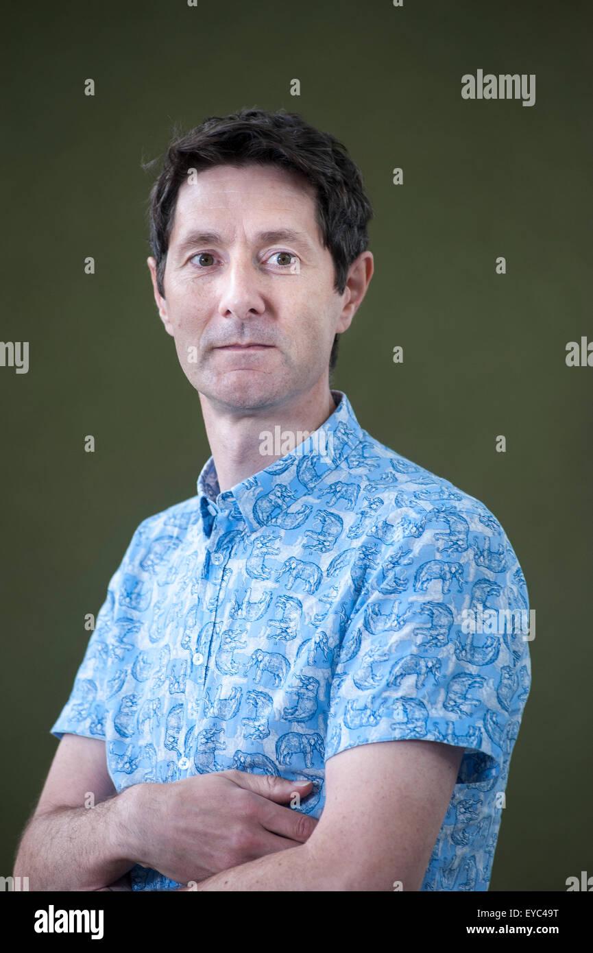 British academic and science communicator, Trevor Cox, appearing at the Edinburgh International Book Festival. - Stock Image
