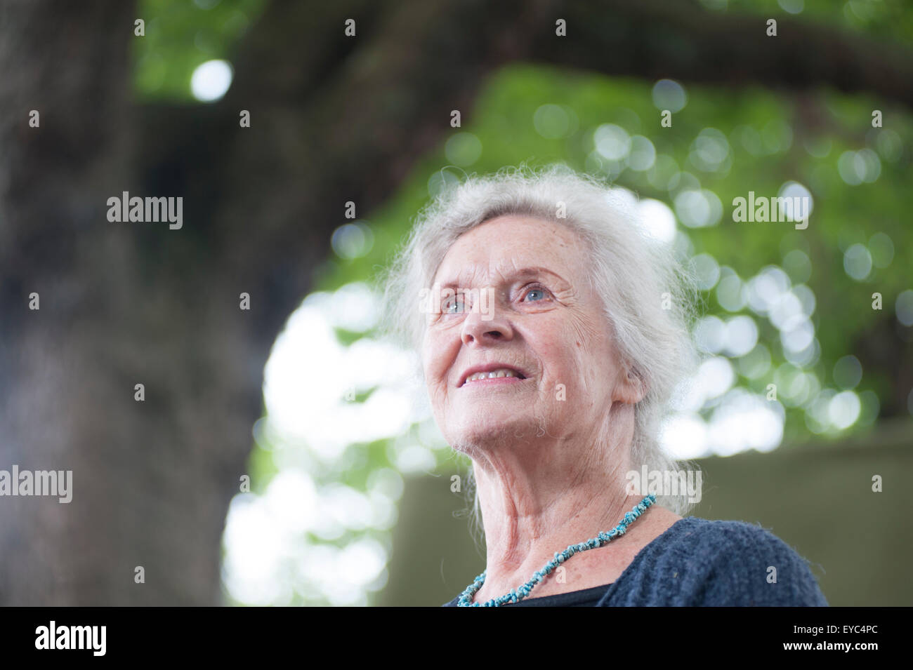 British literary critic and academic, Gillian Beer appearing at the Edinburgh International Book Festival. - Stock Image
