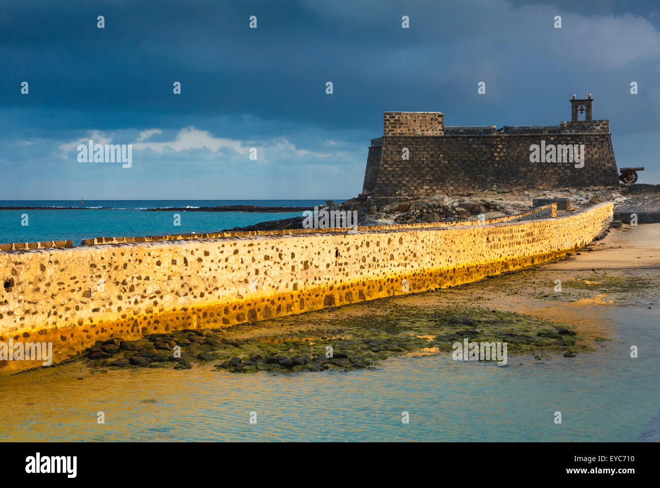 Fortress. Castle of San Gabriel. Arrecife. Lanzarote, Canary Islands, Spain, Europe. - Stock Image