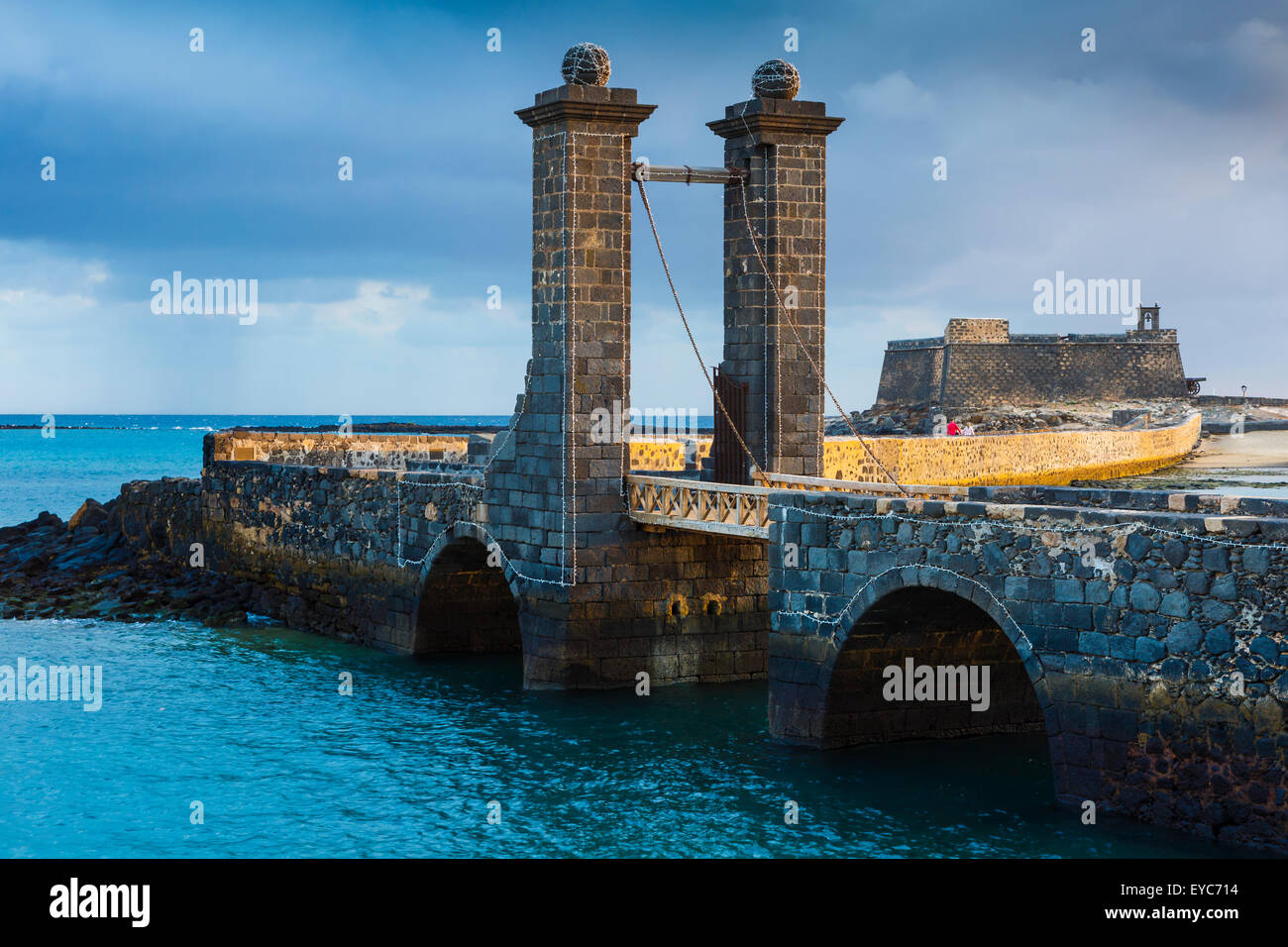 Castle of San Gabriel. Arrecife. Lanzarote, Canary Islands, Spain, Europe. - Stock Image