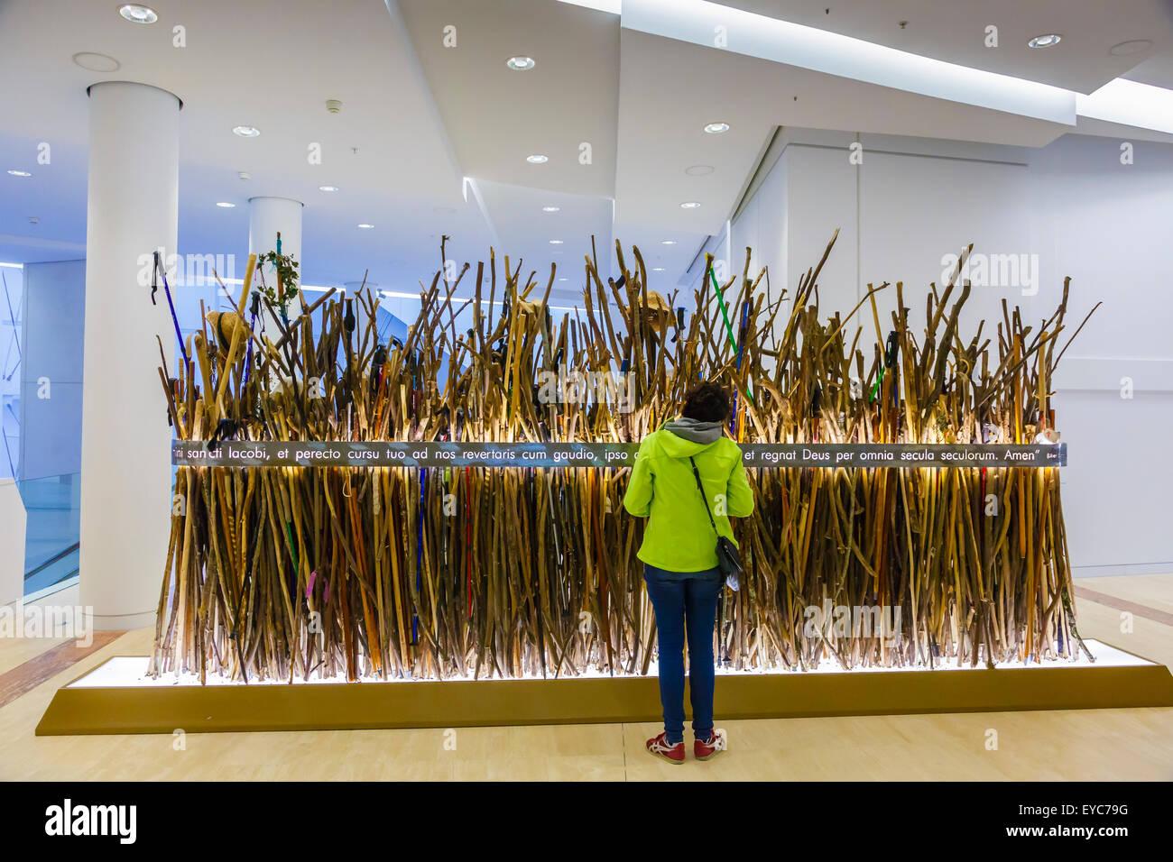 Way of St. James exhibition. City of Culture. Santiago de Compostela. La Coruña, Galicia, Spain, Europe. - Stock Image