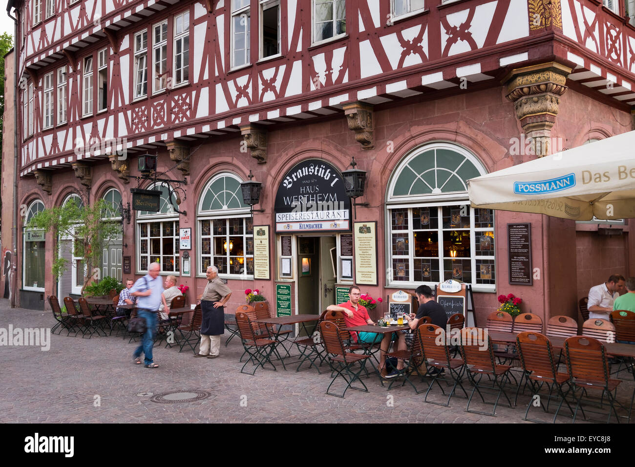 Haus Wertheym Oldest Restaurant In Frankfurt Historic Centre Stock