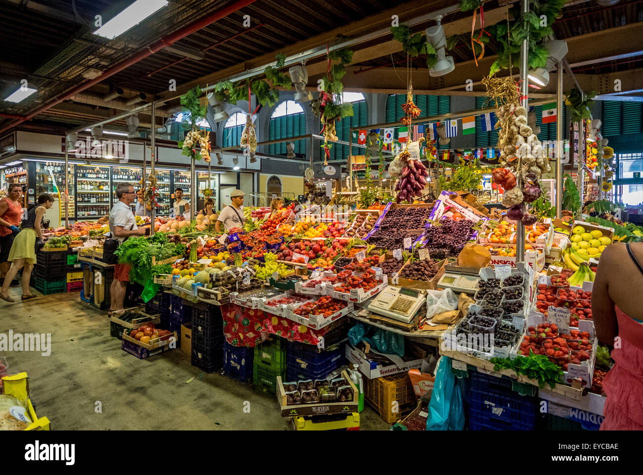 Mercata Centrale indoor market. Florence, Italy. - Stock Image
