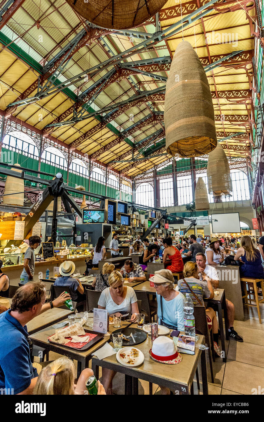 Mercato Centrale Indoor Market Florence Italy Stock