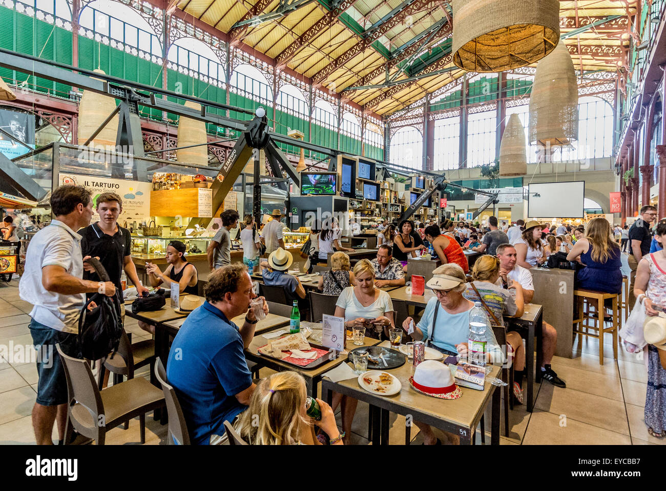 Mercato Centrale indoor market. Florence, Italy. - Stock Image