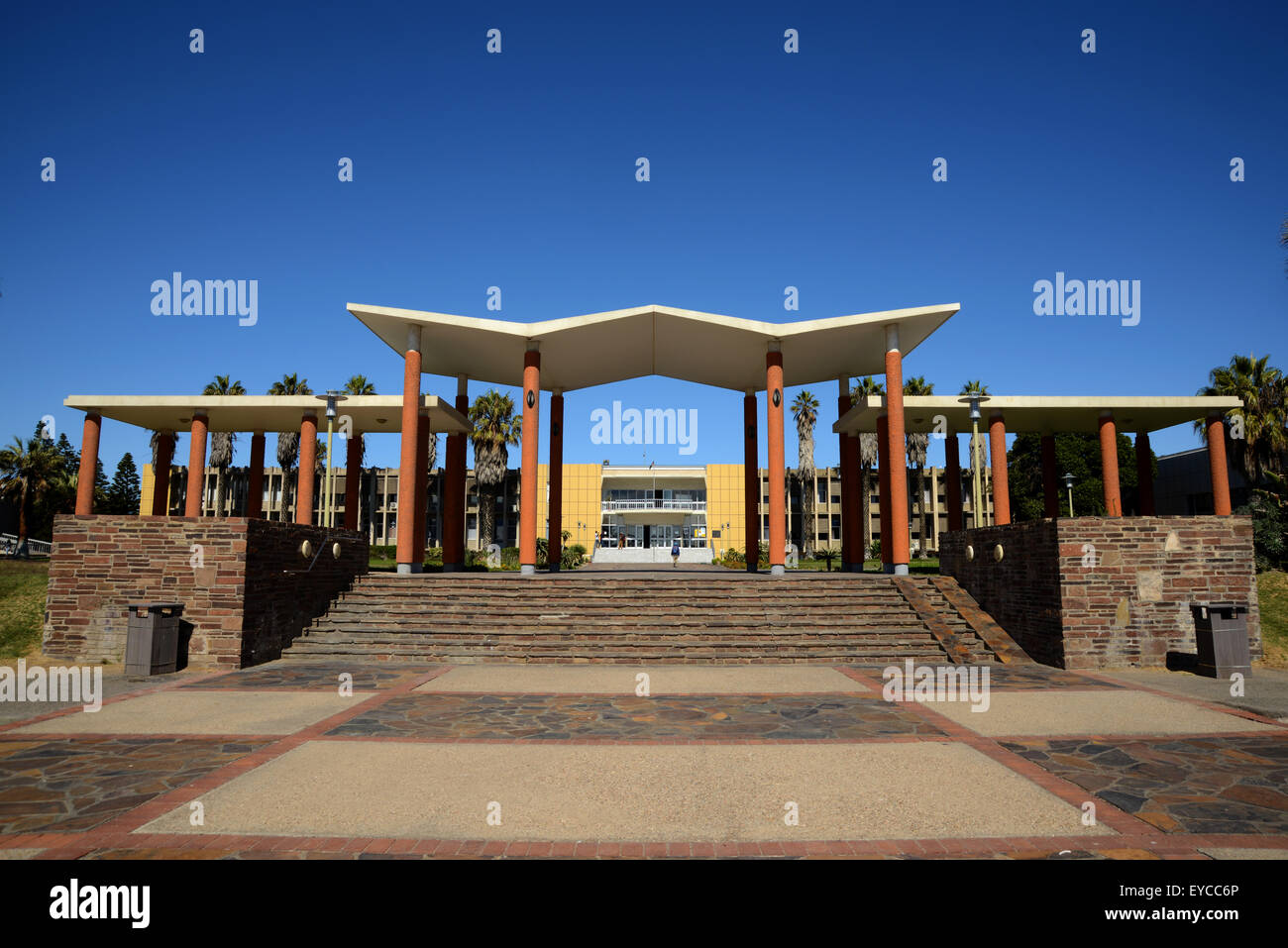 Walvis Bay, Namibia library Town Hall Gallery - Stock Image