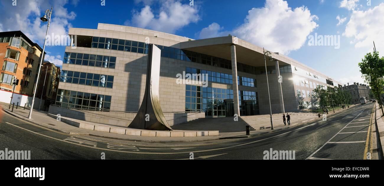 Dublin City,Co Dublin,Ireland;Corporate Offices On Wood Quay - Stock Image