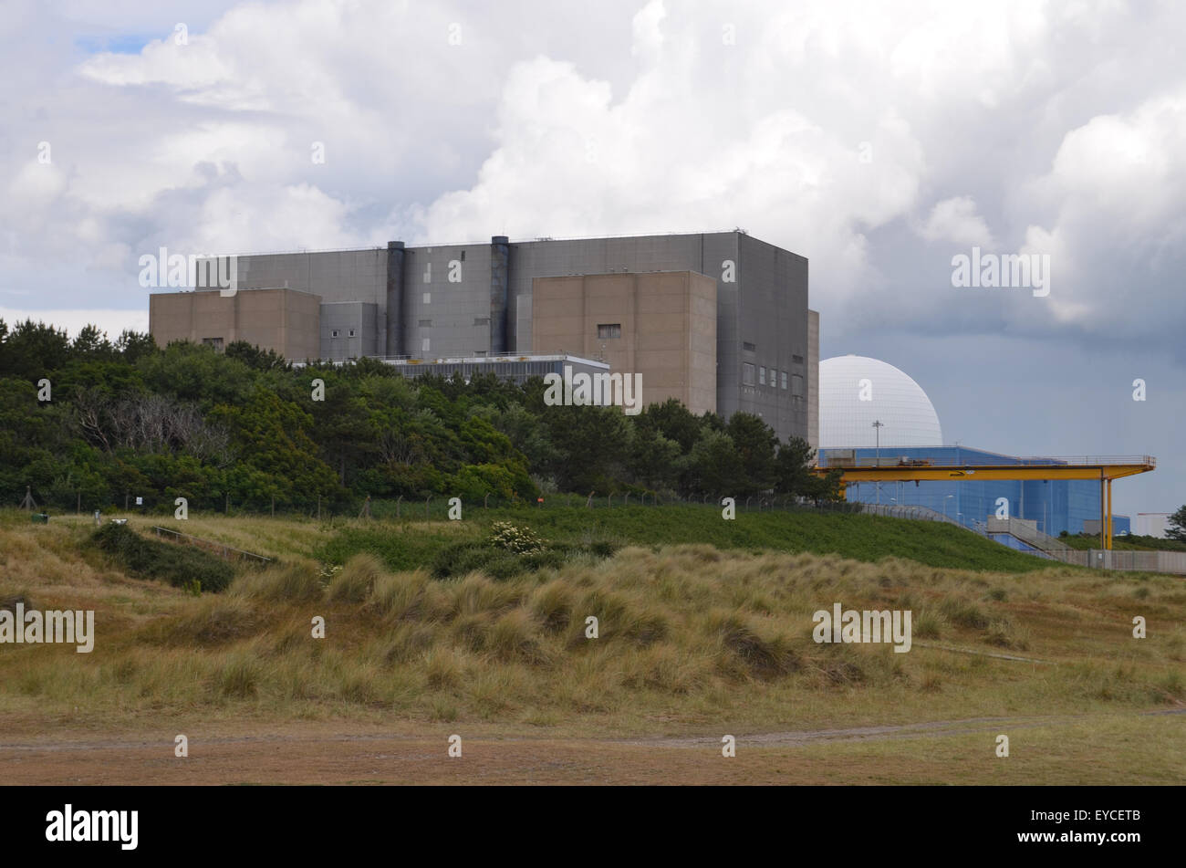 Sizewell A & B nuclear power station, Suffolk 2015 UK - Stock Image