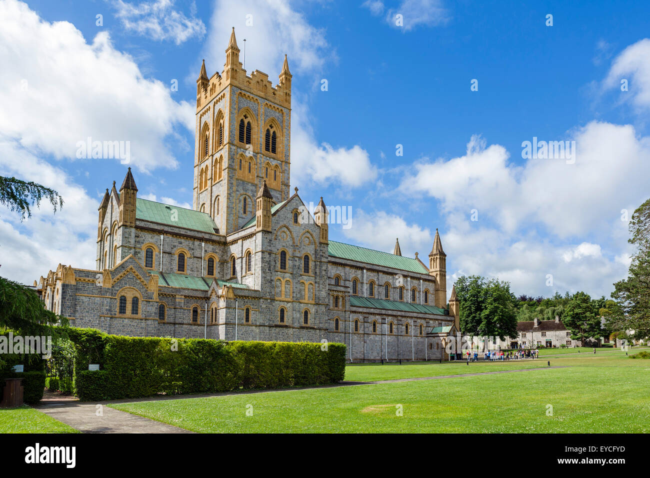 The Abbey Church of St Mary, Buckfast Abbey, Buckfastleigh, Devon, England, UK - Stock Image