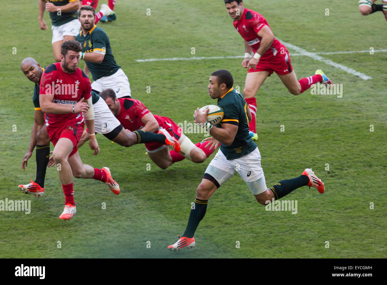 Bryan Habana of South Africa in action   during the 2nd test match between South Africa and Wales - Stock Image