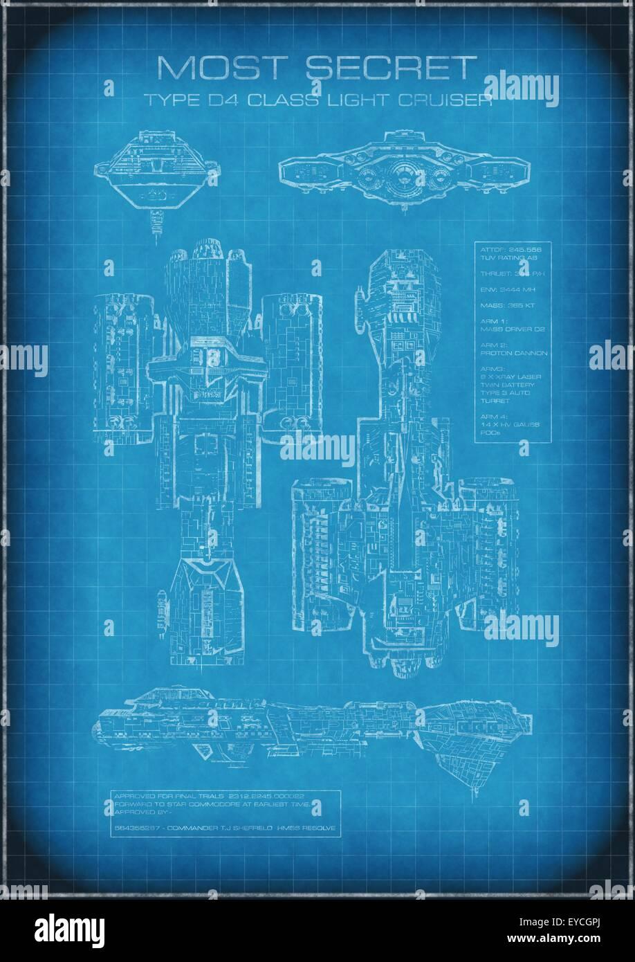 Top secret spaceship blueprint with text stock photo 85713786 alamy top secret spaceship blueprint with text malvernweather Gallery