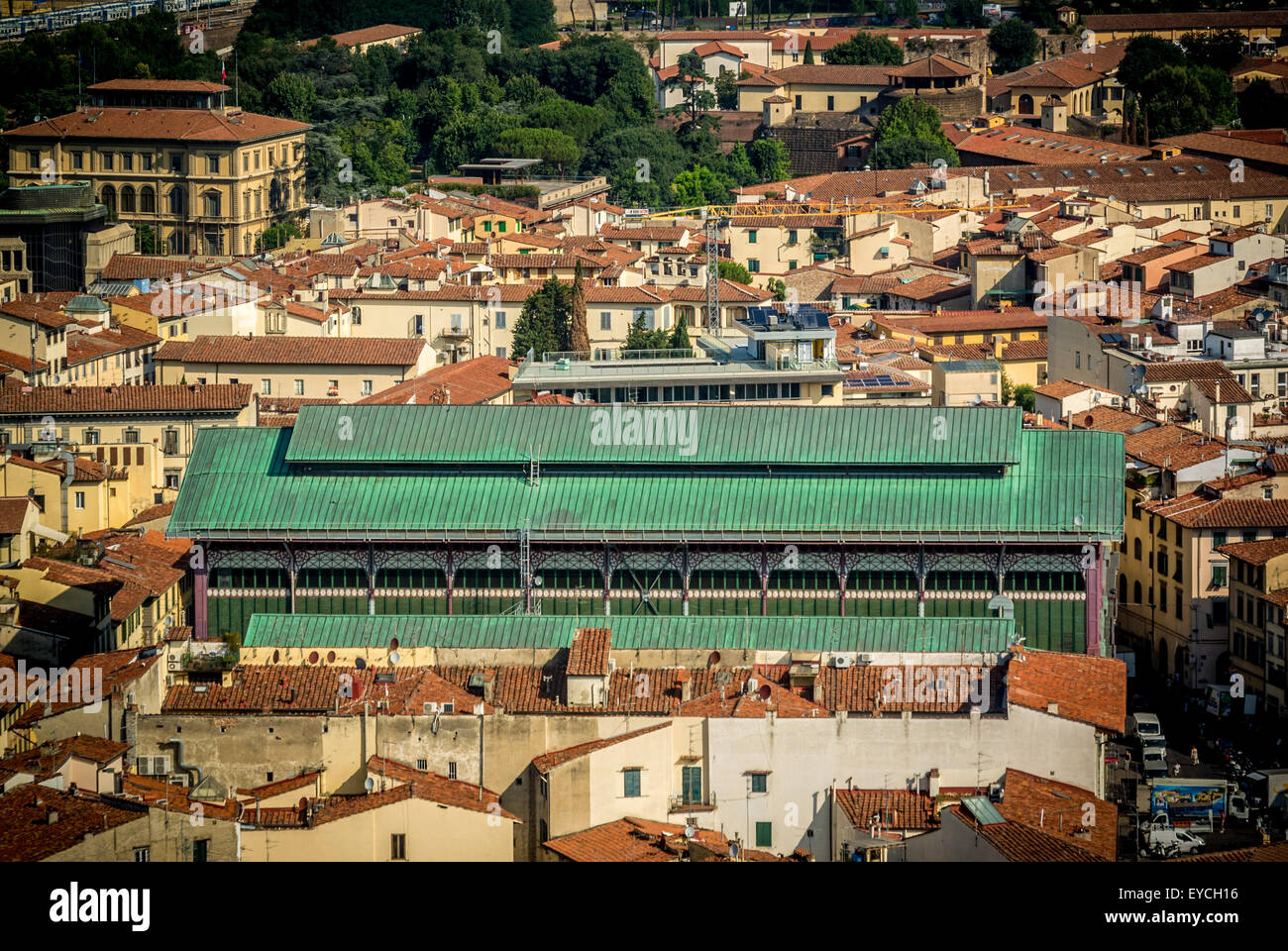 Exterior of Mercato Centrale indoor market. Florence, Italy. - Stock Image