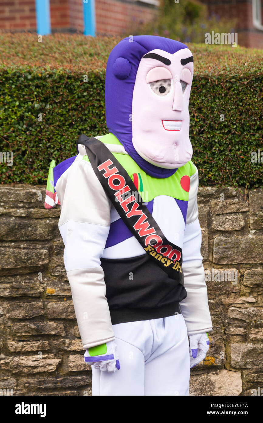 Swanage Carnival Procession theme of Superheroes -  Buzz Lightyear - Stock Image