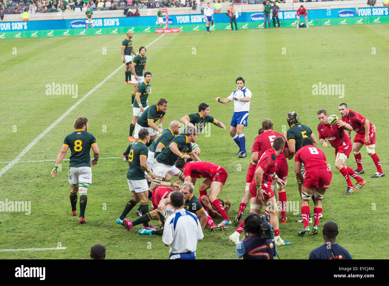 Duane Vermeulen of South Africa and Taulupe Faletau of Wales  during the 2nd test match between South Africa and - Stock Image