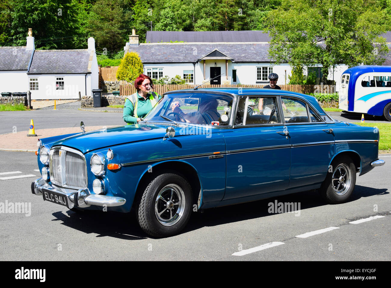 Old rover 3.5L P5 saloon, at the Kielder Classic and Vintage Car Show 2105. - Stock Image