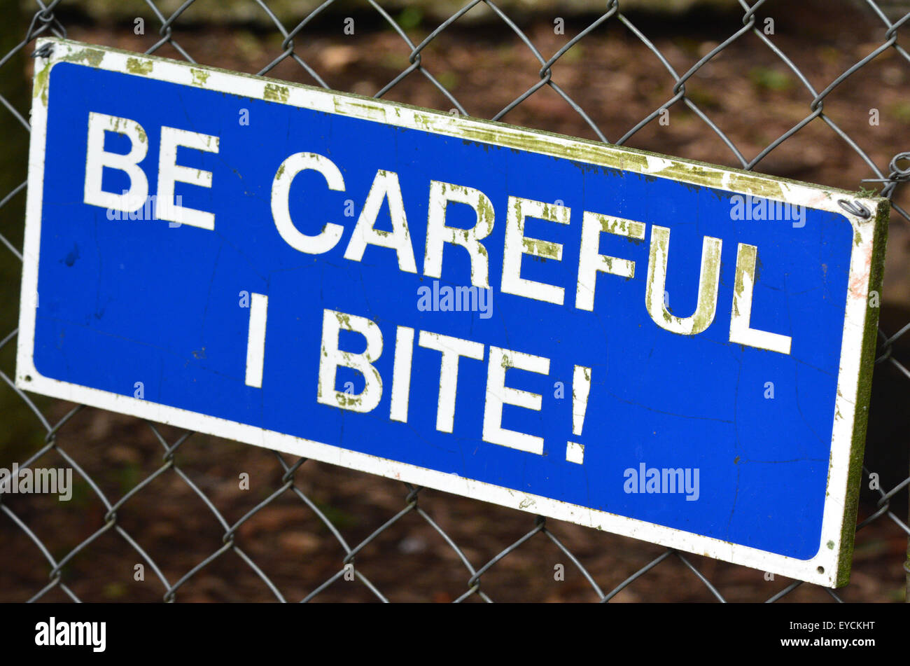 Be careful I bite sign. concepts and ideas - Stock Image