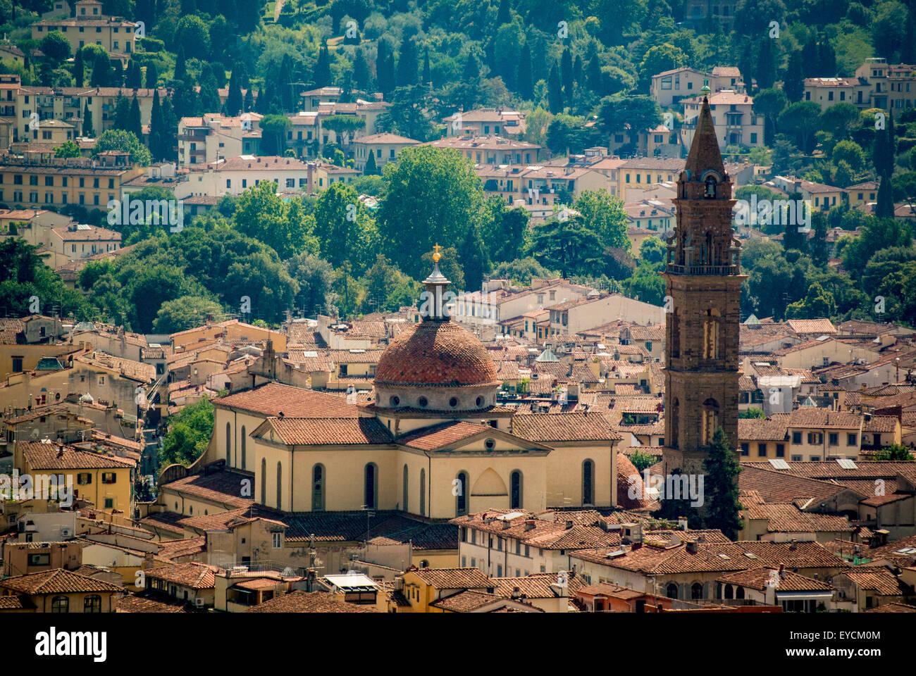 The Basilica of Santa Maria del Santo Spirito. Florence, Italy. Stock Photo