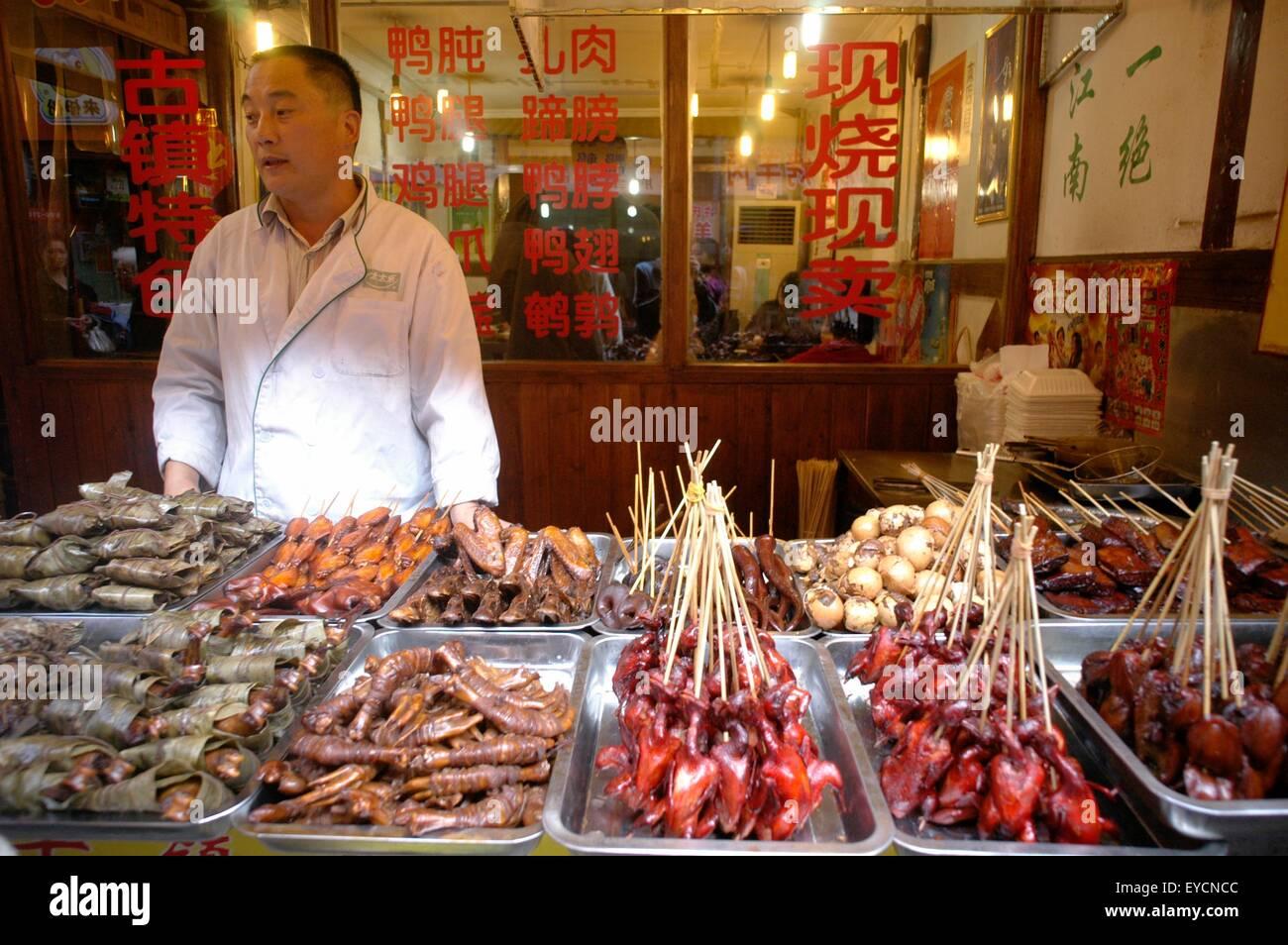 A street vendor in Zhujiajiao outside of Shanghai - Stock Image