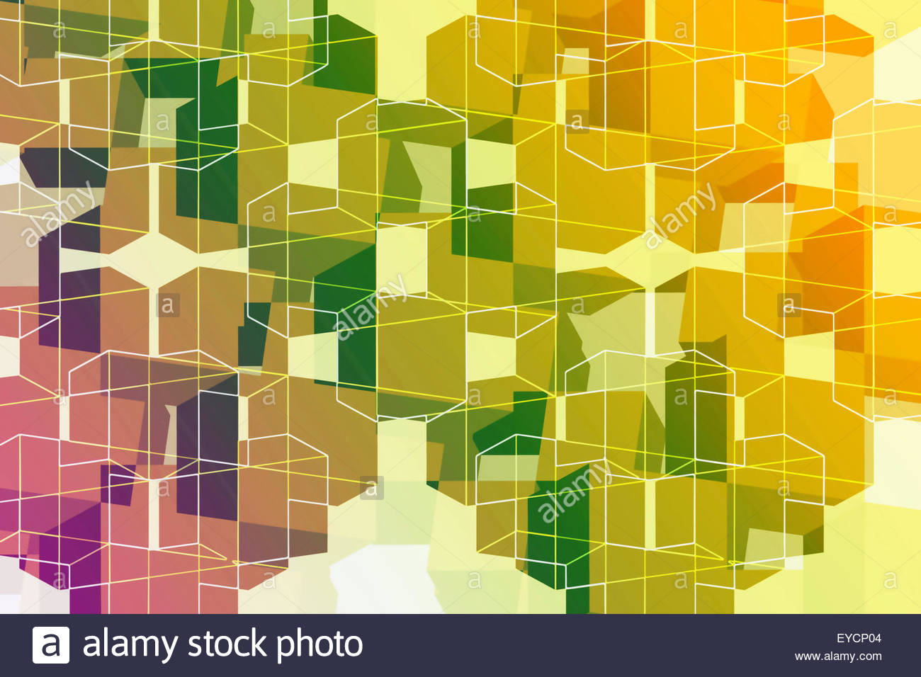 Abstract full frame three dimensional geometric backgrounds pattern - Stock Image